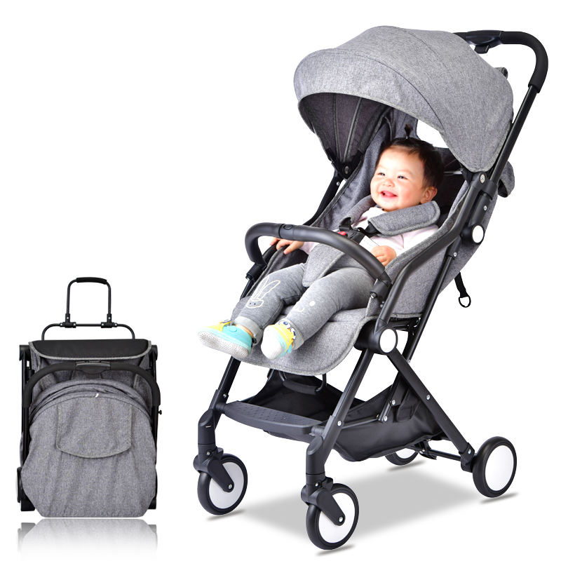 Baby stroller light buggy for dolls child ultra-lightweight portable folding strollers for babies can sit can lie pram umbrella цена