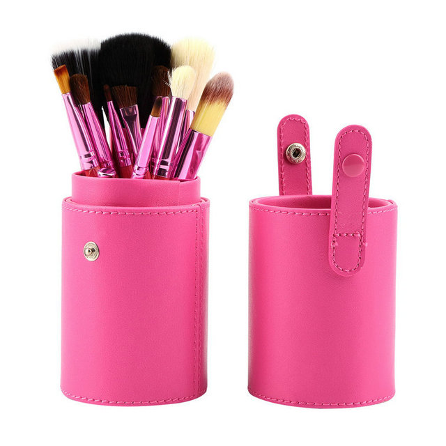 Professional Makeup Brush with Leather Case