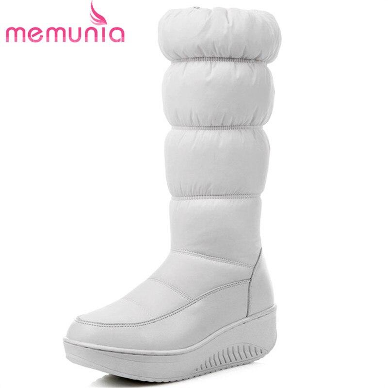 MEMUNIA di Grandi dimensioni 35-44 stivali da neve per le donne in inverno stivali delle donne di modo scarpe piattaforma impermeabile mid vitello stivali