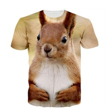 New Cute Animal 3D T Shirt HD Squirrel Printed Summer Tops Women Men Fashion T-shirt Short Sleeve Clothing Dropship S-5XL R2467