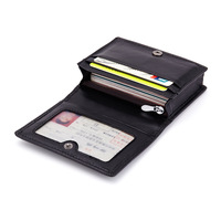 Westcreek Brand Business Hand Knitting Sheepskin Passport Holder Genuine Leather Card Holders Driving License Bag Coin