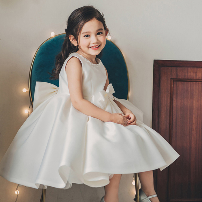 Evening White Organza With   Flowers   Cute Ball Gown   Flower     Girl     Dresses   2018 New First   Flower     Girl     Dress