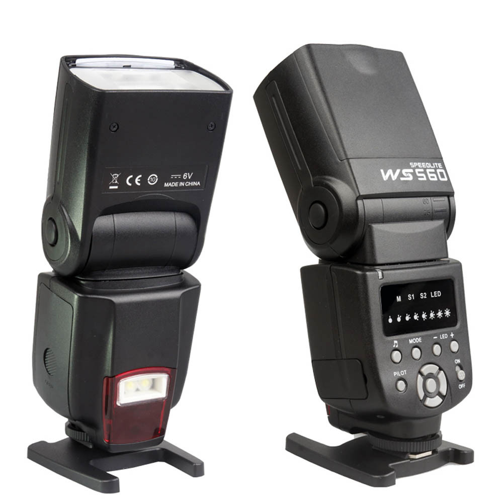 Galleria fotografica NOUVEAU Flash Speedlite WS-560 Caméra flash pour NIKON D3100 D5100 D7000 <font><b>Canon</b></font> 60D 600D 650DV 70D 5D 1D 5DII 5 DIII 50D Olympus
