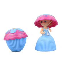 1 PC Mini Cupcake Princess Doll Kids Creative Transformed Scented Beautiful Toy Children Plastic Playing House Game Toys TY0323(China)