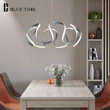 Gray Finished Modern LED Chandelier Lighting For Bedroom Living Room Dining Room Study Room Hanging LED Chandeliers AC 220V 110V стоимость