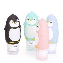 Портативный мультяшный медведь Пингвин животное силиконовый Дорожный Чехол-органайзер шампунь для геля и лосьона для душа многоразовая бутылка