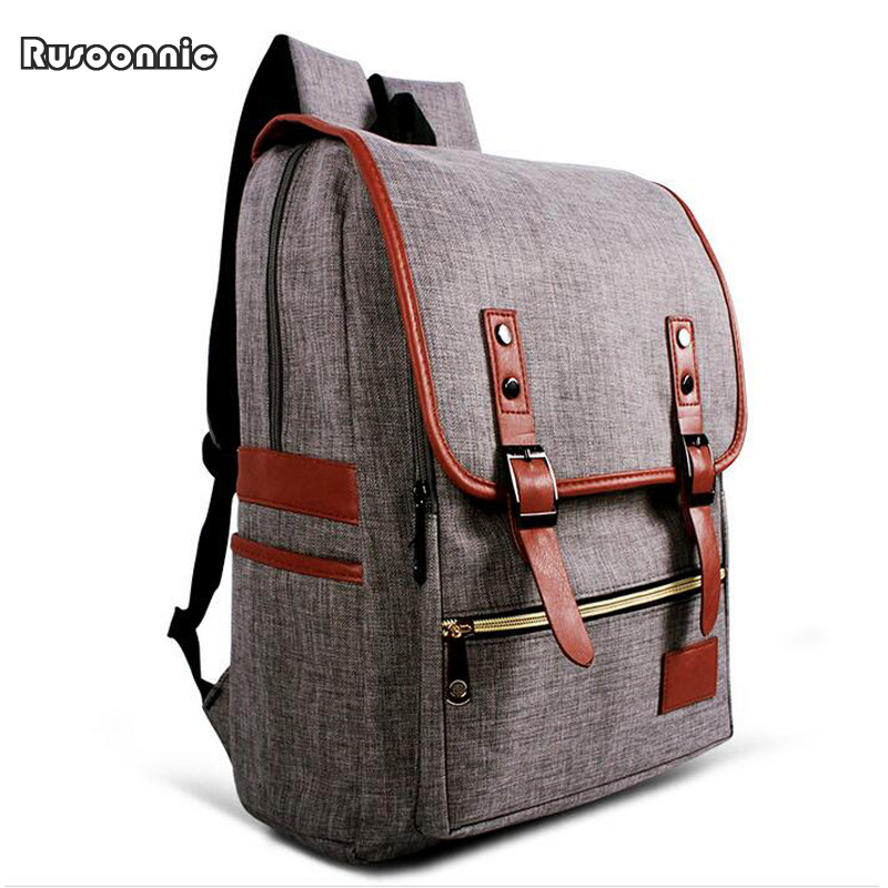 Canvas Backpack Men Oxford Bag Retro Backpacks escolar bagpack School Bags Women Famous Brands Mchila Mochilas escolar coofit 3 in 1 multifunction unisex backpack bagpack retro canvas laptop backpacks for women men travel daypack shoulder bag