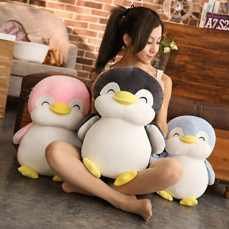 30cm/45cm/55cm Super Soft Penguin Plush Toy Cute Cartoon Animal Penguin Stuffed Doll Girls Lovers Valentine's Gifts Sofa Pillows
