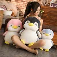 30cm/45cm/55cm Super Soft Penguin Plush Toy Cute Cartoon Animal Penguin Stuffed Doll Girls Lovers Valentine's Gifts Sofa Pillows