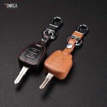 คุณภาพสูงของแท้หนังฝาครอบกุญแจรถ,รถยนต์สำหรับ Vauxhall Opel Astra สำหรับ Zafira Omega Astra Mk4 ,2 ปุ่ม