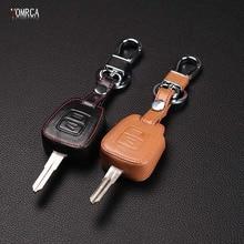 Wysokiej jakości skórzana obudowa kluczyka do samochodu, stylizacja samochodu dla Vauxhall Opel Astra dla Zafira Omega Astra Mk4 ,2 przyciski