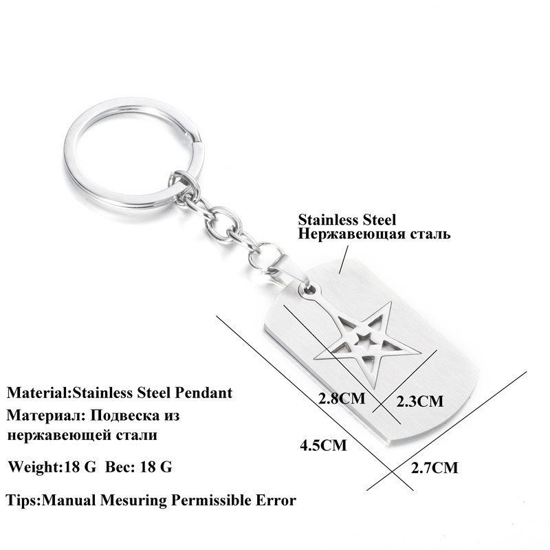 Stainless Steel Keychain Stars Hollow Hook Pendant For Keys Ring Chain Women Men Bag Charms Handbag Jewelry Accessories