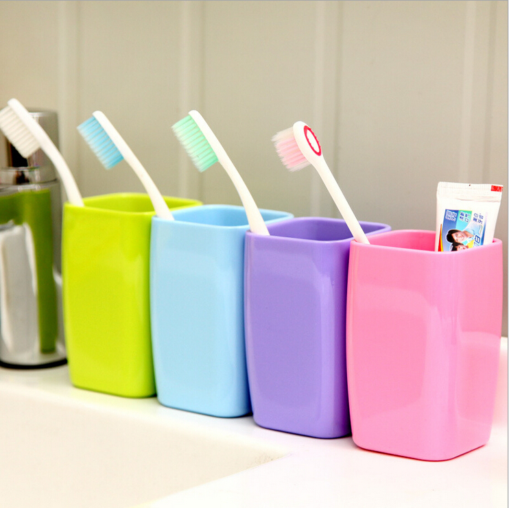 1 Pcs 6 5 6 5 10 5cm Discount Bathroom Sets Tooth Brush Holder Cup Wash