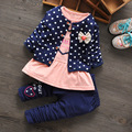 Free shipping  children set  spring baby girl cotton 3PCS suit, baby girls sets