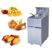 1PC FY 2G commercial Vertical GAS type fryer deep fryer fried furnace frying pan Two tube blast furnace gas