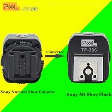 PIXEL TF-336 TTL Горячий Башмак Адаптер Конвертер Для Sony A100 A200 Обычный Обуви Камеры для Sony A230 A300 A330 Новый Mi Обуви Speedlite