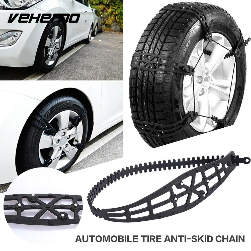 Vehemo Snow Tire Belt Snow Chain Anti-Skid Chains TPU 1 Pc Thickened Climbing Mud Ground Tyre Roadway Safety Vehicles Durable