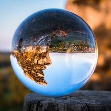 50/60/70/80/90/100/110mm fotoğraf kristal Lens topu asya kuvars temizle sihirli cam küre w/taşınabilir çanta fotoğraf çekimi için