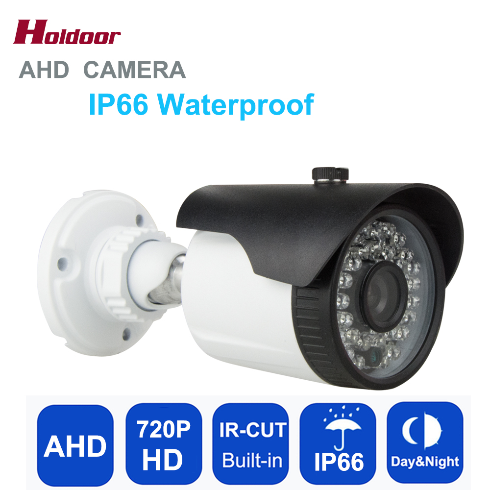 Holdoor AHD Camera 720P CMOS Sensor IR-Cut Filter Indoor / Outdoor Night Vision IP66  Waterproof 1MP Metal Security CCTV Camera hd 1mp ahd security cctv camera 720p indoor dome ir cut 48leds night vision ir color 1080p lens