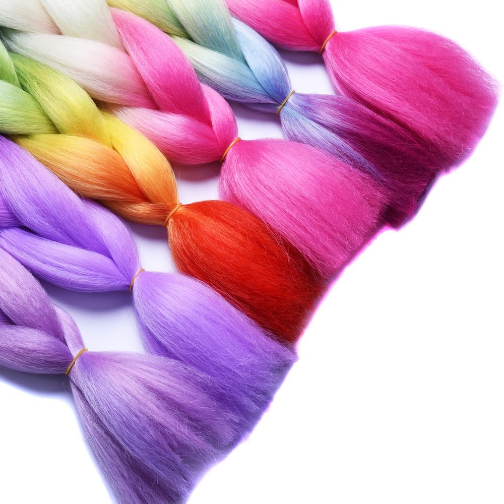 Sallyhair Ombre Braiding Hårförlängningar 2 Tonfärg 1 Pack 24inch - Syntetiskt hår - Foto 3