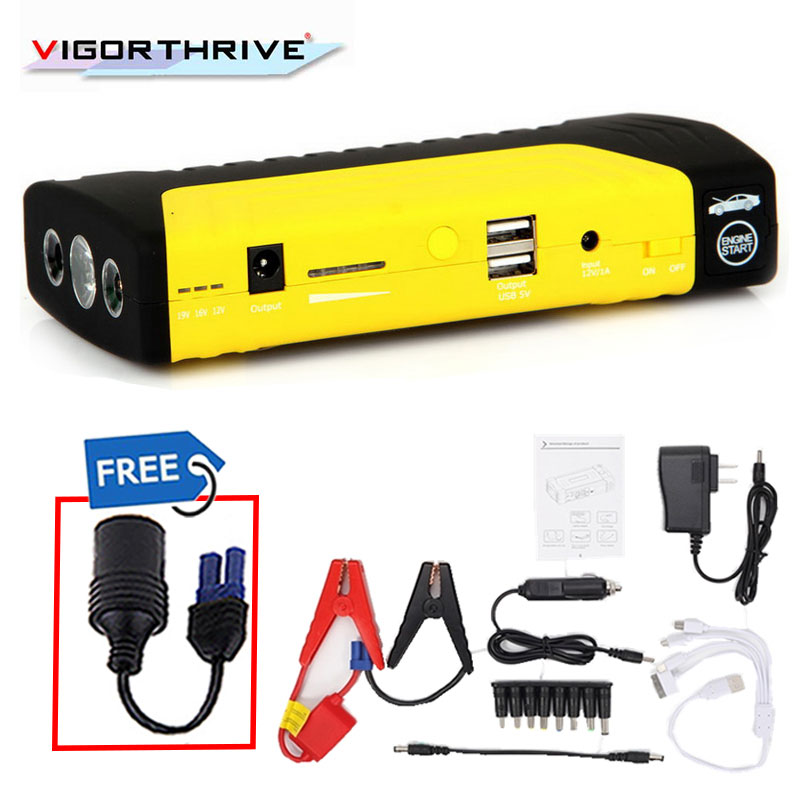 Mini 12 V Pour en Marche la Voiture D'urgence Booster 600A Voiture Jump Starter batterie externe Portable Dispositif de Démarrage Essence Diesel chargeur de voiture