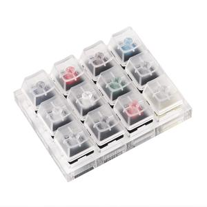 Image 5 - 12 Cherry MX Switches Keyboard Tester Kit Clear Keycaps Sampler PCB Mechanical Keyboard Translucent Keycaps Testing Tool