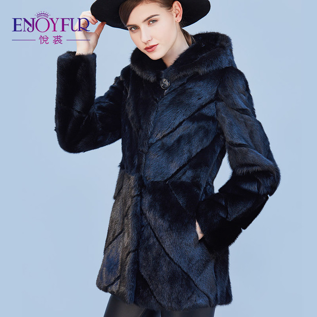 Aliexpress.com : Buy ENJOYFUR Genuine Mink Coats Real Mink Fur ...