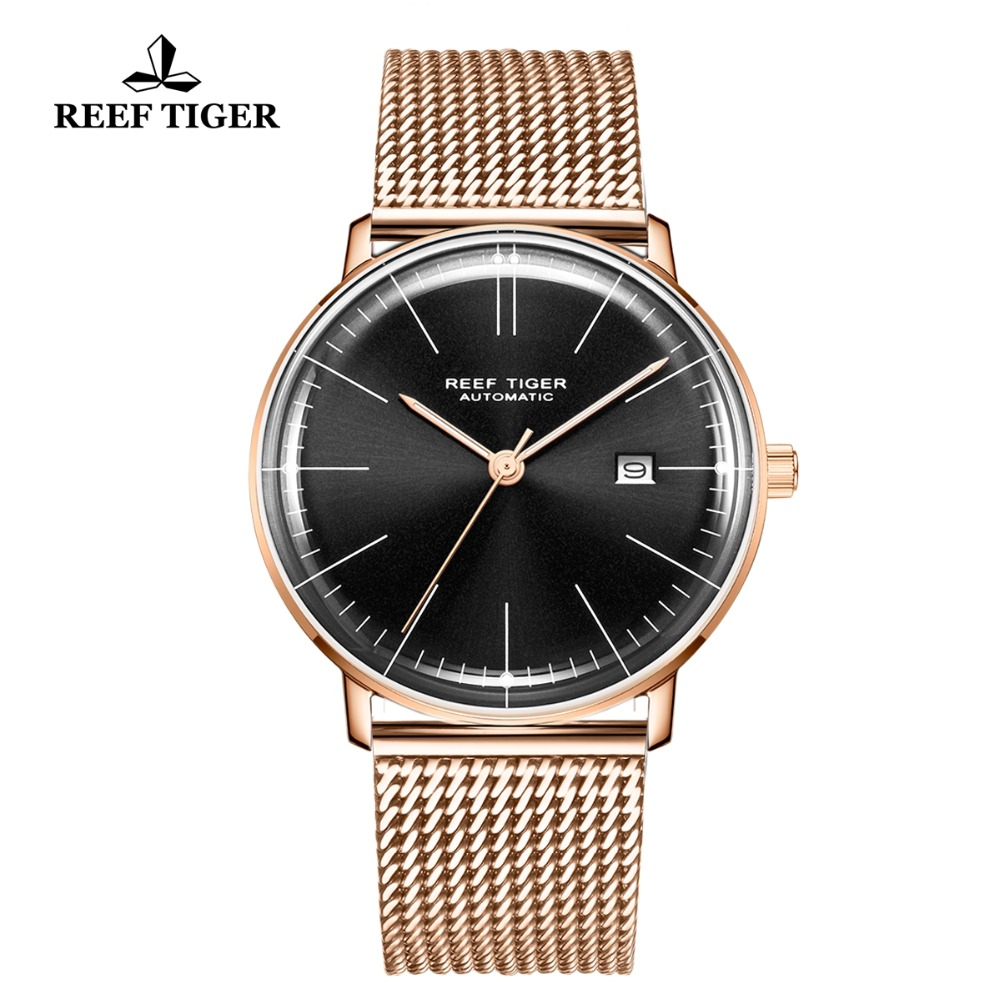 Staple Watches Tiger/rt Clock Rose-Gold RGA8215 Men Luxury Brand Relogio Casual Simple