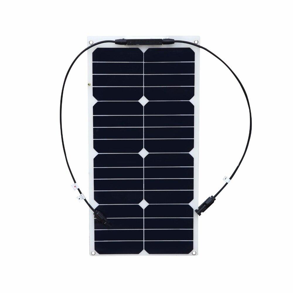 2 PCS 18V 25W flexible solar panel mono Boat Car Vehicle Auto Solar Energy Battery Panels For Outdoor Activity Solar Power board energy efficient system for solar panel