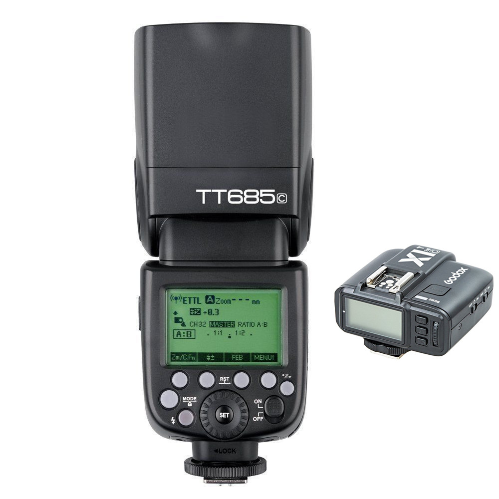 Godox TT685C 2.4G Wireless E-TTL High-speed sync 1/8000s GN60 Flash Speedlite + X1C-T Transmitter for Canon DSLR Camera