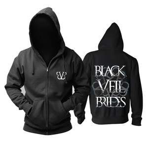Image 5 - Bloodhoof ブラックベール花嫁バンドポストハードコアロックミュージックデスメタル黒綿パーカーアジアサイズ