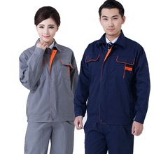 Welding clothing workwear clothes for men women overalls for workmen work uniform car workshop welding suit mechanical uniform(China)