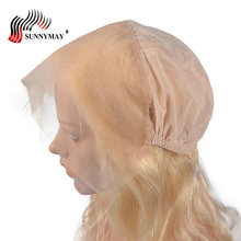 Sunnymay Blonde 360 Lace Frontal With Cap 613 Color Brazilian Virgin Hair Body Wave Beauty Forever Closure