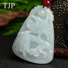 TJP Emerald Beautiful stone Jade Beast accessories Authentic pendant necklace PH069 Free shipping