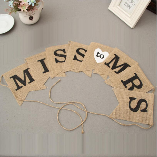 Aliexpress buy party 25m miss to mrs hessian banner hen party party 25m miss to mrs hessian banner hen party bridal shower wedding decoration accessories junglespirit Image collections