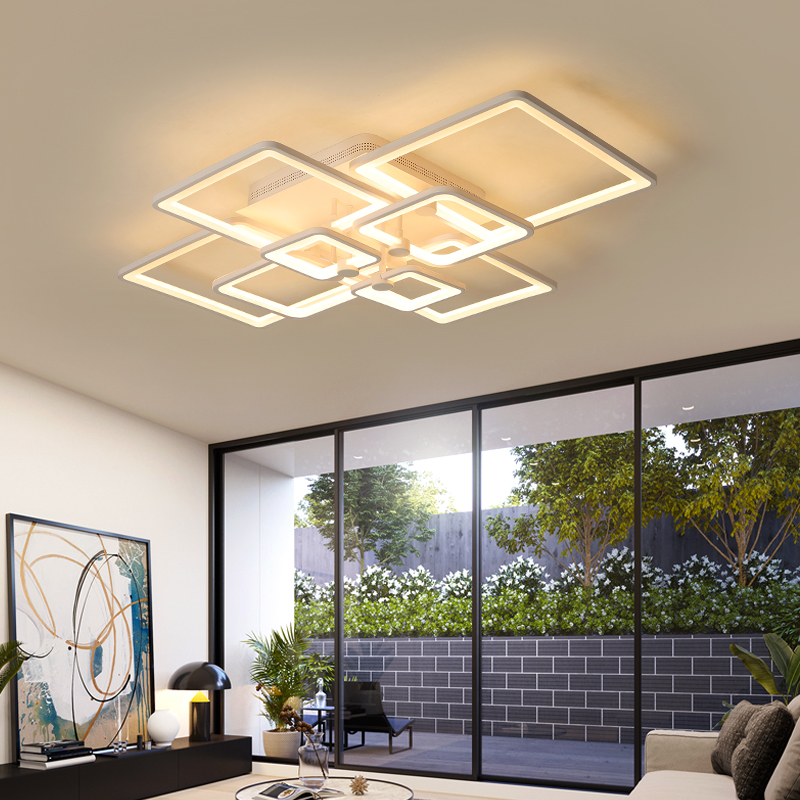 Modern Led Chandelier For Living Room Dining Room Bed Room Kitchen light Fixture led Plafondlamp AC90V-260V Light Ceiling modern led chandelier light fixture for living room bed room kitchen led ceiling lamp plafon acrylic luminaire 5cm ultra thin