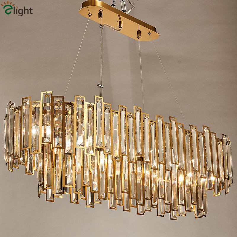 Dining Room Luxury Gold Led Pendant Light Lustre Steel Luminarias Hotel Hanging Lamp Indoor Lihgitng Fixtures Suspend Lamp