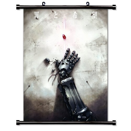Fullmetal Alchemist Wall Scroll Art Silk Fabric Poster 36 x 24