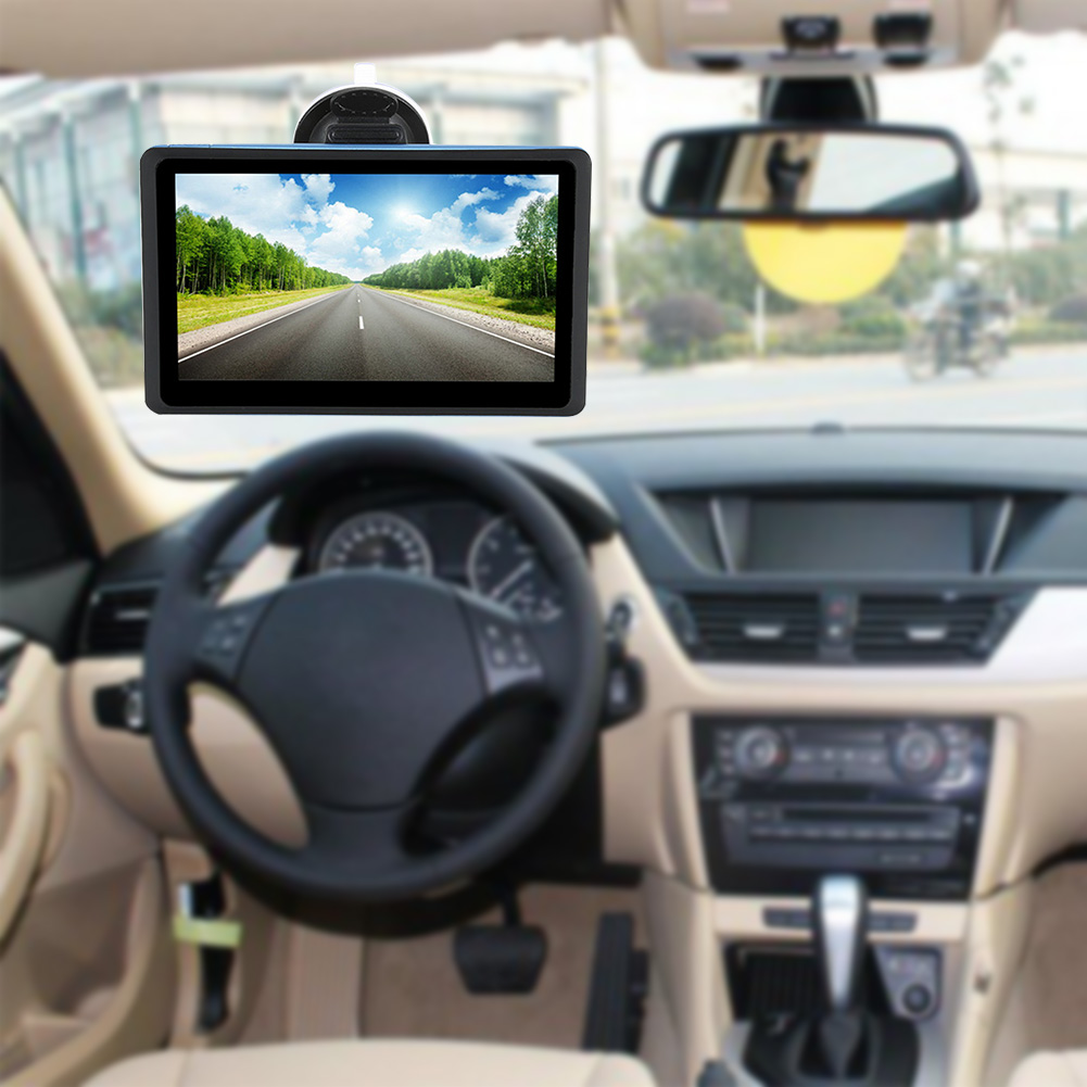 7 Inch Car Black FM HD Multimedia Multifunction Music GPS Navigation Universal Free Map Device Caravan Touch Screen(China)