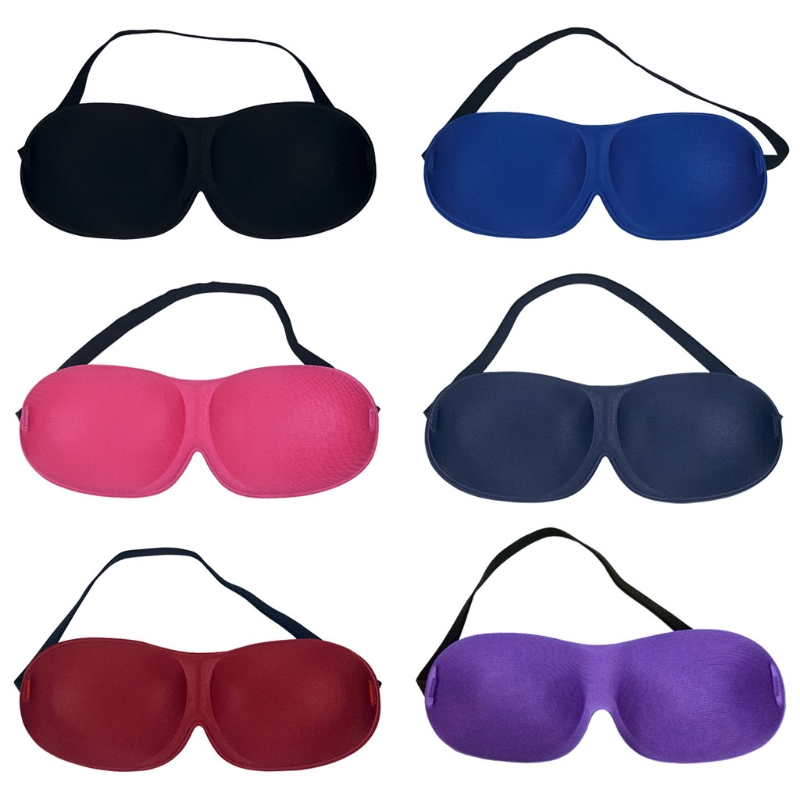 3D Rest Sleeping Eye Mask Padded Sponge Shade Cover Blindfold Patch Portable New