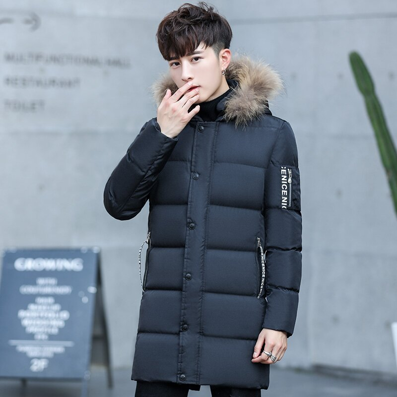 YWSRLM Large Fur Collar Winter Men Parka 2017 New Winter Men Jacket Coat Long Slim Thick ...