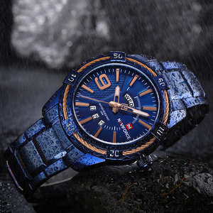 Image 3 - NAVIFORCE Mens Watch Blue Dial Stainless Steel Water Resistant Man Watches Luxury Business Analog Quartz Mens Watches Fashion