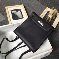 Высокое качество женские роскошные модный рюкзак сумка 100% кожа от бренда известный Дамы Полный Рюкзак ручной работы Бесплатная shipping20cm
