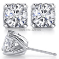 LASAMERO Stud Earrings 14K Gold Total 1 carat One Pair Lab Grown Moissanites Diamond Stud Earrings Heart Prong Earrings
