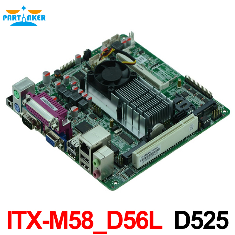 Cheap price industrial embedded MINI ITX motherboard ITX-M58_D56L support D525 1.80GHz dual core CPU with 8*USB/6*COM mini itx motherboard embedded industrial motherboard epia vb7001 av out 100% tested perfect quality