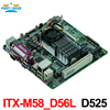 Cheap Price Industrial Embedded MINI ITX Motherboard ITX M58 D56L Support D525 1 80GHz Dual Core