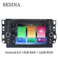 Besina Android 8.0 Car DVD Player For Chevrolet Aveo Epica Captiva Spark Optra Tosca Kalos Matiz 8 Cores 4G+32G Radio GPS Stereo
