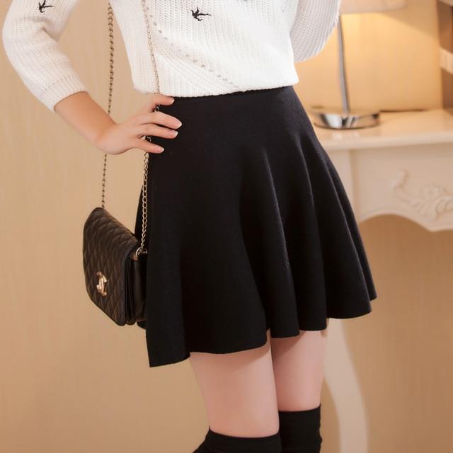 3dab4e9ea66db Mode taille haute jupes femmes sexy Mini jupe bas jupe plissée Saia Preta  noir 2017