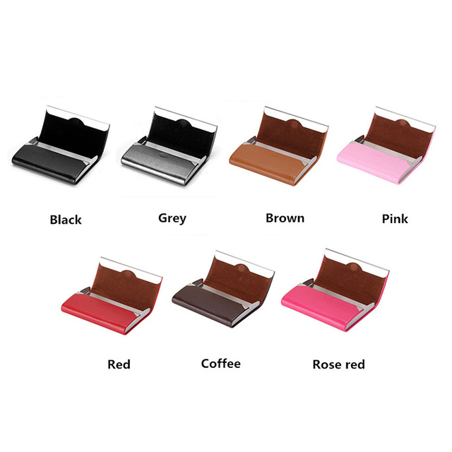 Bisi Goro 2021 New Wallet Men Bussiness Card Name Holder Pu  Leather ID Card Case Bank Card Holder Wallet Package 7 Colors 6