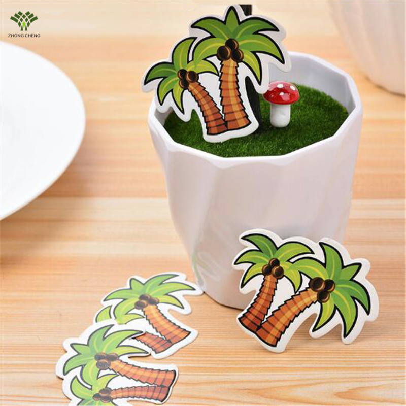 50PCS Coconut Tree Birthday Cake Topper Kids Birthday Cake ...